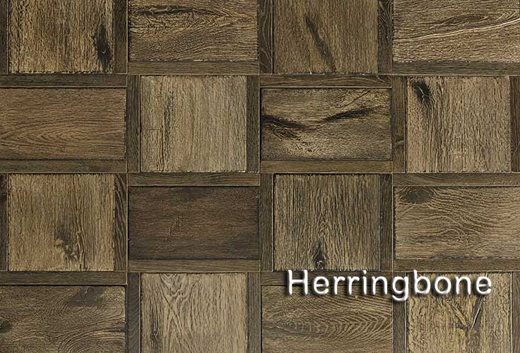 Herringbone french white oak